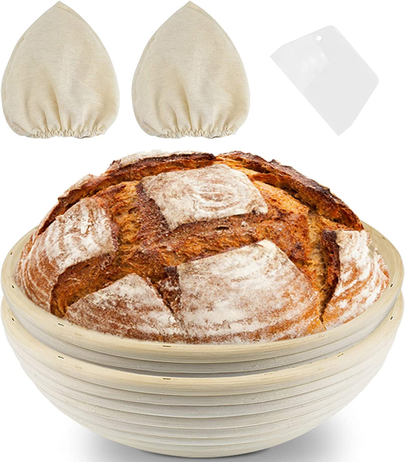 KATUMO 10 Inch Al sold out. Bread Seasonal Wrap Introduction Proofing Round Pack Proofin Basket 2