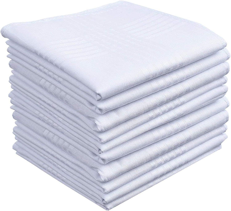 Mens White Cotton 100% Cotton handkerchiefs Pack