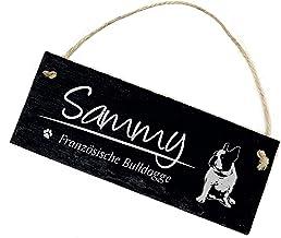 Decolando Home Accessoires Gegraveerd leisteen bord - Frans Bulldog motief hond met naam naar keuze naambordje - deurbordj...