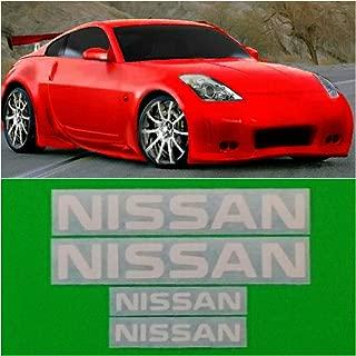 R&G NISSAN & 350Z High Temp Brake Caliper Decal Sticker Set of 4 (White)