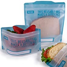 Russbe Lunch Systems, Reusable Snack and Sandwich Bags, Blue Statement