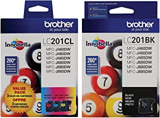 Brother LC2013PKS - C/M/Y - 3 Pack Ink … (LC2013BK/C/M/Y (All Colors))