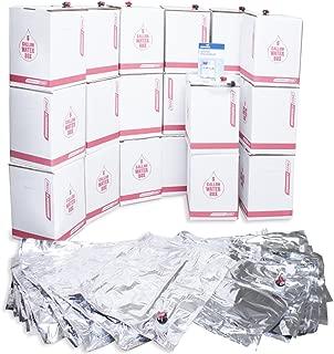 Long Term Water Storage System, BPA Free Water Bags, 5 Year Shelf Life, 100 Gallon Set
