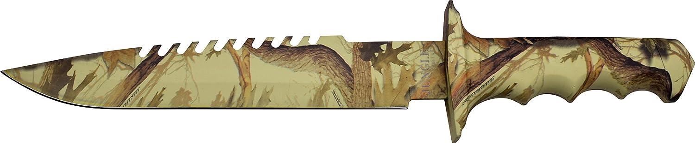 JUNGLE MASTER Outdoormesser JM-005 Serie, Messer 3D OPTIK Griff, sehr scharfes Jagdmesser, Tactical Knife 37,5cm ROSTFREI Halbgezahnt Feststehende Klinge, Überlebensmesser für Jagen  Militär  Angeln  Camping B01NADFWBQ  Trendy