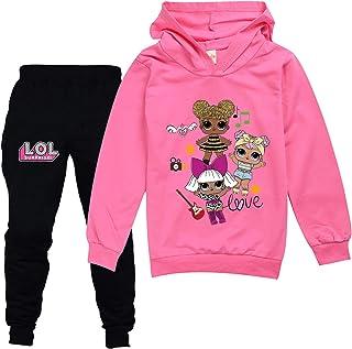 مجموعات بدلة رياضية للبنات لطيف سترة رياضية للأطفال توب وسروال مجموعة ملابس Sweatsuits