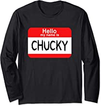 Hello My Name Is Chuck Halloween Costume Long Sleeve T-Shirt