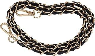 JAKAGO, cinghia a catena da 124,5 cm con pelle nera di ricambio fai da te per borsa da sera, borsa a tracolla, borsa a spa...