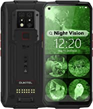 WP7 Rugged Smartphone, Night Vision Camera 8GB + 128GB Helio P90 Waterproof Unlocked Android Cell Phone 6.53 inches FHD+ G...
