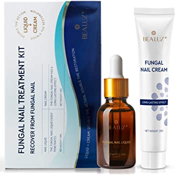 BEALUZ Fungal Nail Treatment Liquid and Cream Kit, Repair Fungal Infected Nails, Effectively Stopping Fungus and Restore Healthy Nails