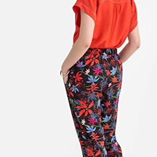 La Redoute Womens Floral Print Slim Fit Trousers, Length 30.5
