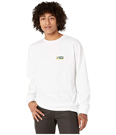 Vans Cross Point Long Sleeve T-Shirt (White) Men