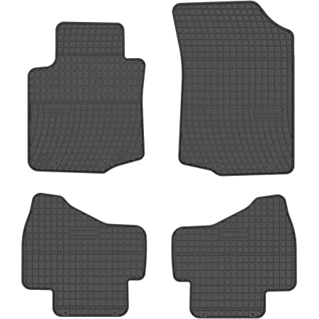 All4you Gummimatten Original Qualität Fußmatten Gummi Schwarz 4 Teilig Auto