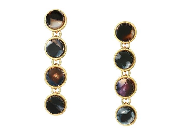 Madewell  Acetate Drop Earrings (Vintage Gold) Earring