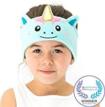 CozyPhones Kids Headphones Volume Limited with Ultra-Thin Speakers & Super Soft Fleece Headband - Perfect Toddlers & Children's Earphones for School, Home and Travel - Mystic Unicorn