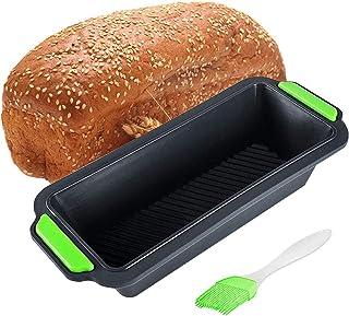 Baguette Backform f/ür 3 Baguettes Silikon Brotbackform Baguette-backblech Backform Backformen Antihaftwirkung Kastenform Kuchenform 500g