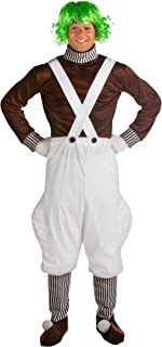 Adult Charlie and The Chocolate Factory Costume Plus Size Oompa Loompa Costume