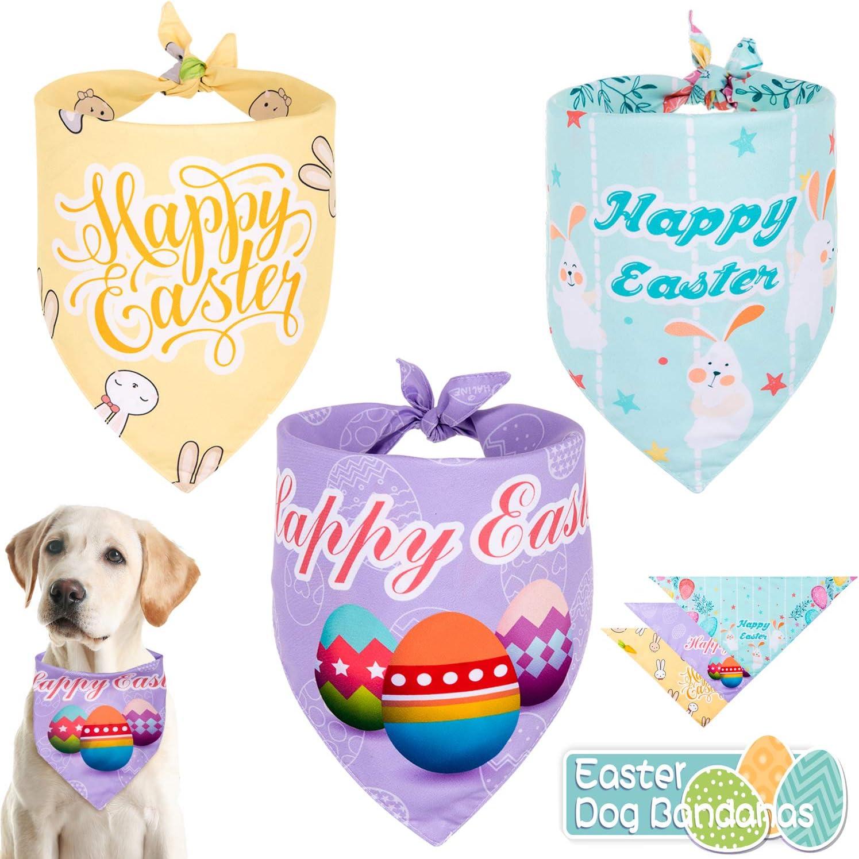 Whaline 3 Pcs Easter Dog Washa safety Triangle Reversible Special price Bandanas Bibs