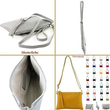 modamoda de - T186 - ital. Clutch Umhängetasche Leder Medium
