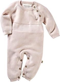 Hans Natur Bio Baby Strickoverall 100% Bio-Baumwolle kbA GOTS zertifiziert, Rosé Melange, 50/56