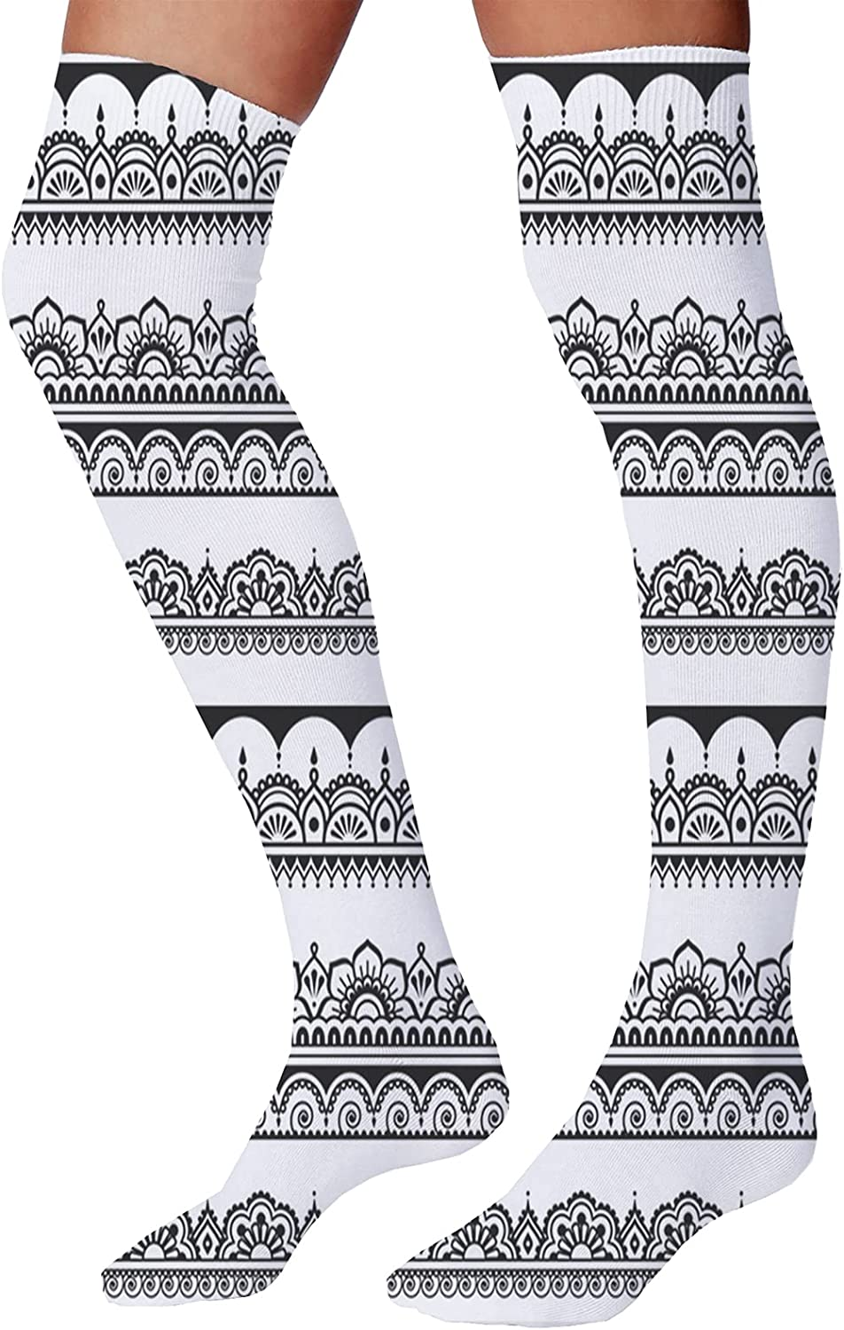 Men's and Women's Fun Socks,Monochrome Doodle Style Suits of Cards Spades Hearts and Clubs Gambling Pattern