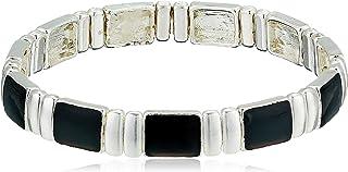 Chaps Women's Silver/Jet Small Watchband Bracelet, Jet