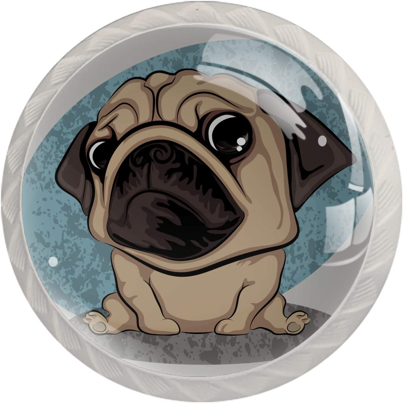 Door Knobs Cute Miami Mall 2021new shipping free Funny Pug Cupboa Handle Pull Drawer Lovely