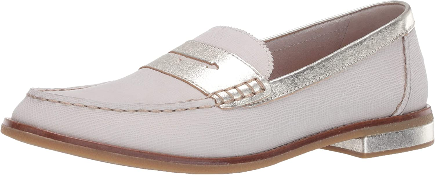Sperry Top-Sider Women's Seaport Penny Plushwave Metallic Leather Loafer