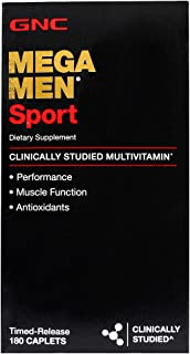 GNC Mega Men Sport Daily Multivitamin for Performance, Muscle Function, and General Health -180...