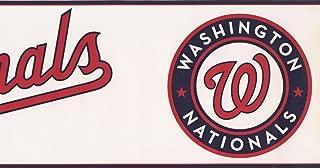 Washington Nationals MLB Baseball Team Fan Sports Wallpaper Border Modern Design, Roll 15' x 6