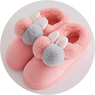 Autumn and Winter Cotton Slippers Inside and Outside The House with Anti-Skid House Warm and Thick-Rooted Women