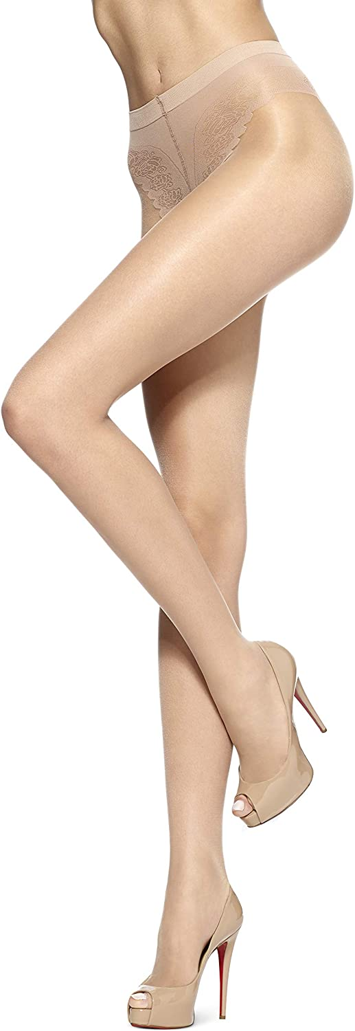 HUE So Sexy Toeless Sheer with Lace Control Top Hosiery (Pack of 3)