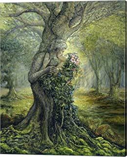Dryad and The Tree Spirit by Josephine Wall Canvas Art Wall Picture, Gallery Wrap, 16 x 20 inches