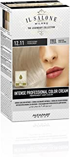 Il Salone Milano Professional Permanent Color Kit - 12.11 Silver Platinum - 100% Gray Coverage Hair Dye - Paraffin Free - Ethyl Alcohol Free - Moisturizing Oils