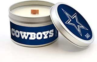 Worthy Promotional NFL Scented Wood Wick Candle in Travel Tin with Lid, 5.8-ounce