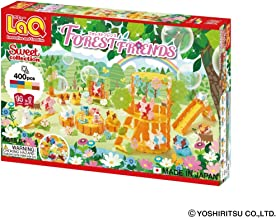 LaQ Sweet Collection Forest Friends - 14 Models, 400 Pieces - Creative Construction Toy