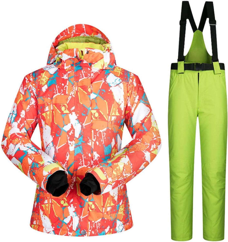 Zjsjacket ski Suit Snow Jackets Women PT Outdoor Snow Pants Sets Breathable Windproof Waterproof Winter Skiing and Snowboarding Suits