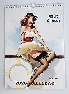 Gil Elvgren Wall Calendar 2020 Pin Up Glam Sexy Girl Retro Vintage A4