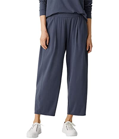 Eileen Fisher Cropped Lantern Pants in Organic Cotton Stretch Jersey