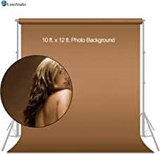 LimoStudio Photo Backdrops 10X12' Brown Muslin Photo Video Backdrop Background, AGG179