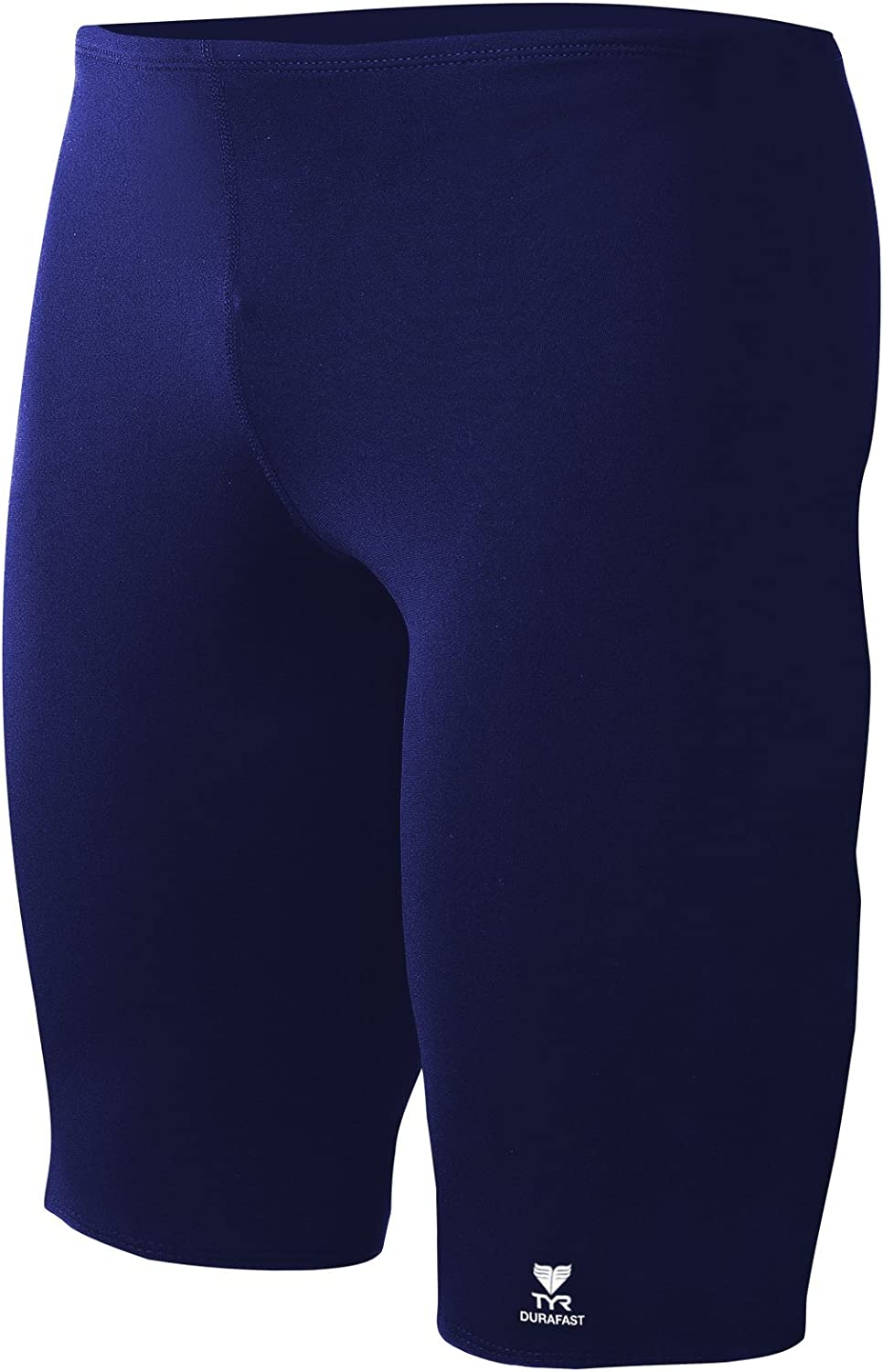 TYR Boy's Durafast Elite Solid Jammer Swim Suit (Navy, 24)
