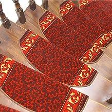 Staircase Carpet,Home Solid Wood Stair Mat Creative Stair Mat Rotating Staircase Carpet Home Non-Slip Decorative Carpet,Ha...