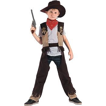 Disfraz de vaquero rodeo niño 3-4 años (98/104): Amazon.es ...