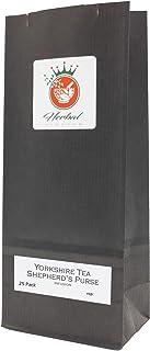 Shepherd's Purse and Black Tea Herbal Infusion (Yorkshire Tea - 25 Tea Bags - Unbleached)