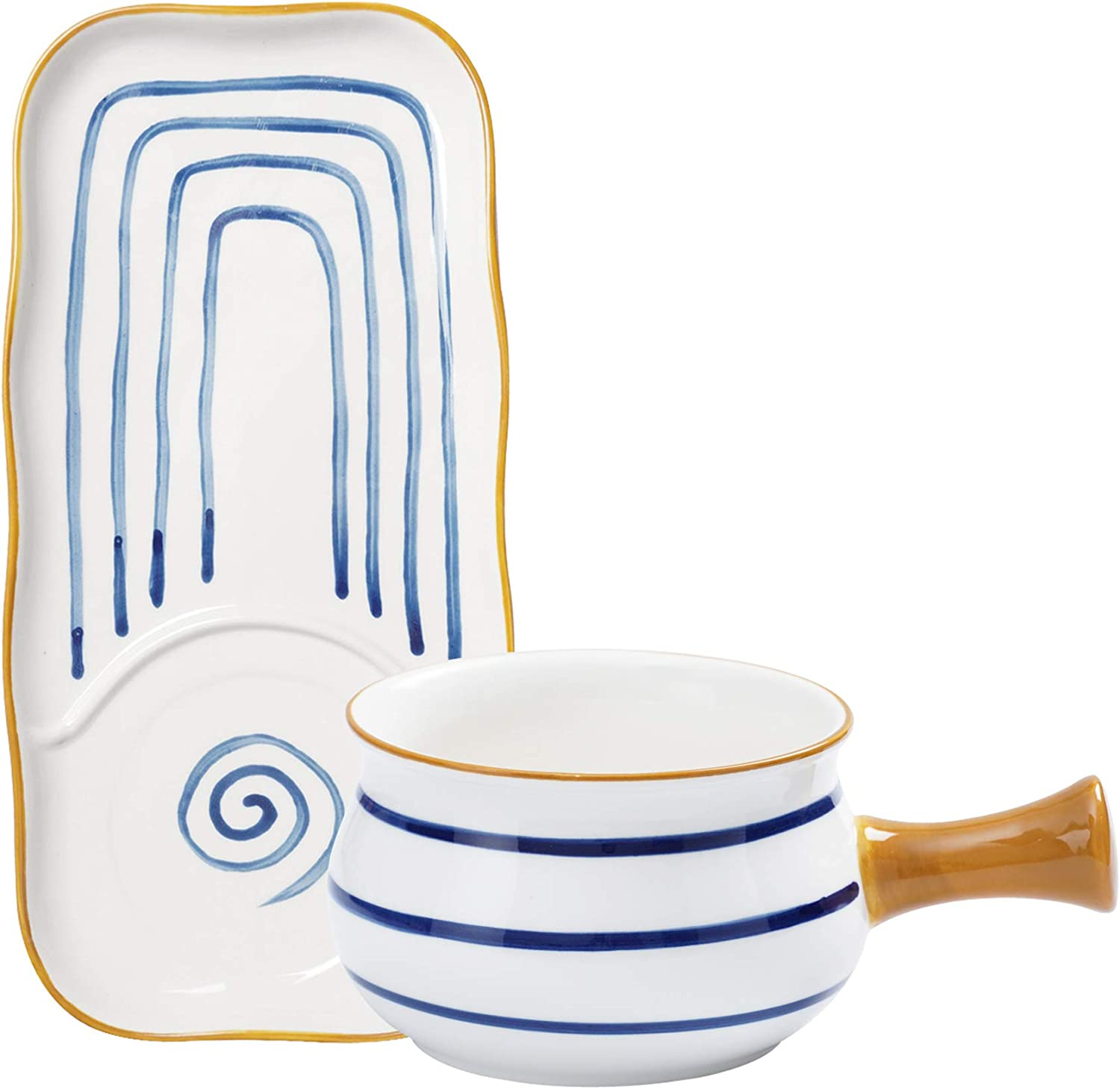 Jusalpha Individualized Creative Breakfast Max 82% Free shipping anywhere in the nation OFF Bowl with Set Handle