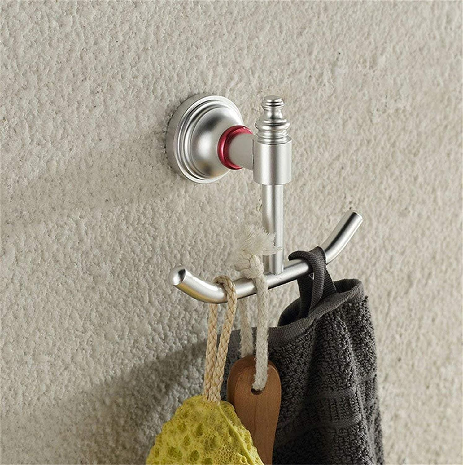 Contemporary Aluminum European Minimalist Accessories of Bathroom All Door Hook Hook Paper to Clothing,