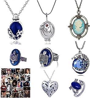 HJYZY 18 pcs The Vampire Diaries Necklaces Elena Daylight Walking Signet Damon's Ring Elena Gilbert Daywalking Katherine S...