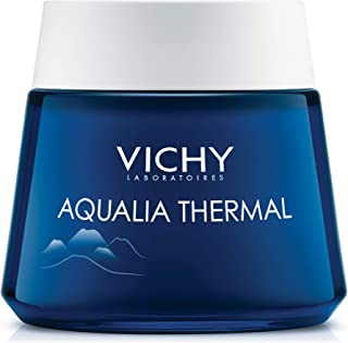 Vichy Aqualia Thermal Night Spa Cream and Face Mask with Hyaluronic Acid, Dermatologist Recommended to Replenish Skin with Hydration & Moisture, Paraben-Free