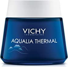 Vichy Aqualia Thermal Night Spa Cream and Face Mask with Hyaluronic Acid, Dermatologist Recommended to Replenish Skin with...
