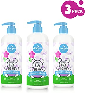 DAPPLE Baby Lotion, Lavender Baby Lotion for Dry Skin, Sulfate-Free, Hypoallergenic, 16.9 Fluid Ounces (Pack of 3)