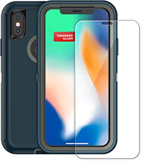 Tempered Glass Screen Protector for Otterbox Defender Case - iPhone X/iPhone Xs (case not Included) Original MagGlass (by Encased)
